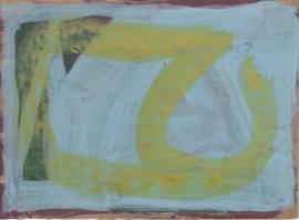 Laios, Acrylic on found board, 2012, Terry Greene