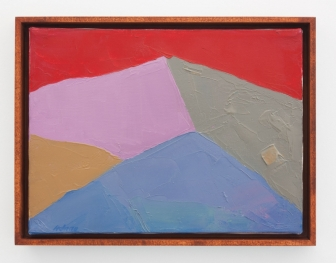 Etal Adnan, Untitled, 2000-2005, oil on canvas, 9 x 12 in