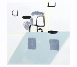 Painting, counter 2009 acrylic on canvas 61 x 61cm, by Kes Richardson