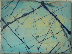 """structurally efficient, 9 1/4"""" x 12 1/4"""", acrylic on canvas, 2012, Painting by Terry Greene"""